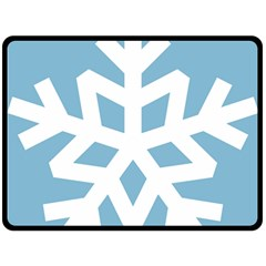 Snowflake Snow Flake White Winter Double Sided Fleece Blanket (large)  by Nexatart