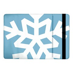 Snowflake Snow Flake White Winter Samsung Galaxy Tab Pro 10 1  Flip Case by Nexatart