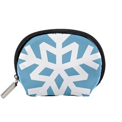 Snowflake Snow Flake White Winter Accessory Pouches (small)  by Nexatart