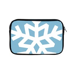 Snowflake Snow Flake White Winter Apple Macbook Pro 13  Zipper Case by Nexatart