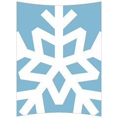 Snowflake Snow Flake White Winter Back Support Cushion by Nexatart