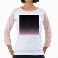 Halftone Background Pattern Black Girly Raglans