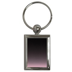 Halftone Background Pattern Black Key Chains (rectangle)  by Nexatart