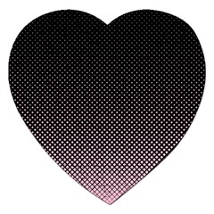 Halftone Background Pattern Black Jigsaw Puzzle (heart) by Nexatart