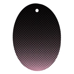Halftone Background Pattern Black Oval Ornament (two Sides) by Nexatart