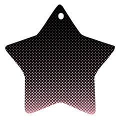 Halftone Background Pattern Black Star Ornament (two Sides)