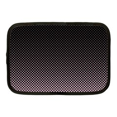 Halftone Background Pattern Black Netbook Case (medium)  by Nexatart