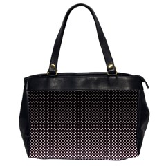 Halftone Background Pattern Black Office Handbags (2 Sides)  by Nexatart