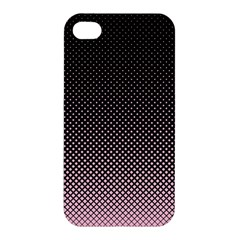 Halftone Background Pattern Black Apple Iphone 4/4s Hardshell Case by Nexatart