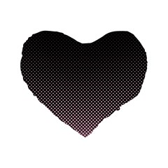 Halftone Background Pattern Black Standard 16  Premium Heart Shape Cushions