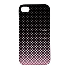 Halftone Background Pattern Black Apple Iphone 4/4s Hardshell Case With Stand by Nexatart