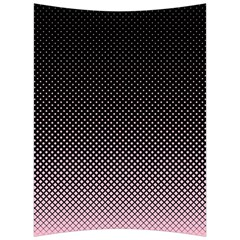 Halftone Background Pattern Black Back Support Cushion