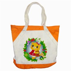 Bear Strawberries Accent Tote Bag