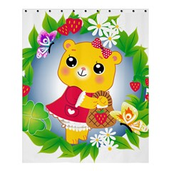 Bear Strawberries Shower Curtain 60  X 72  (medium)