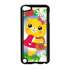 Bear Strawberries Apple Ipod Touch 5 Case (black) by Nexatart