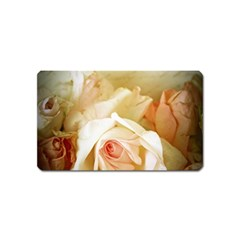 Roses Vintage Playful Romantic Magnet (name Card) by Nexatart