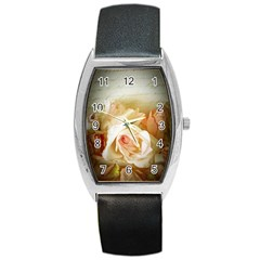 Roses Vintage Playful Romantic Barrel Style Metal Watch