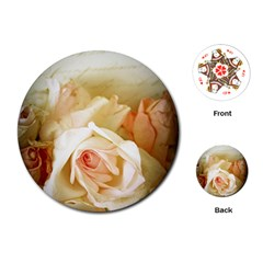 Roses Vintage Playful Romantic Playing Cards (round)  by Nexatart