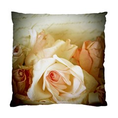 Roses Vintage Playful Romantic Standard Cushion Case (two Sides) by Nexatart