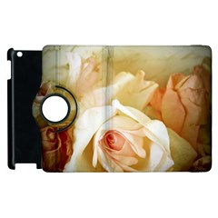Roses Vintage Playful Romantic Apple Ipad 3/4 Flip 360 Case by Nexatart