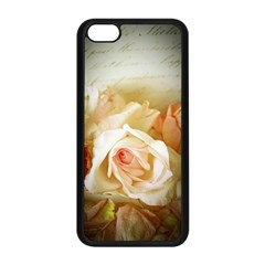 Roses Vintage Playful Romantic Apple Iphone 5c Seamless Case (black) by Nexatart