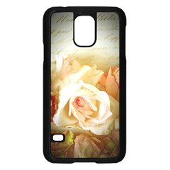 Roses Vintage Playful Romantic Samsung Galaxy S5 Case (black) by Nexatart
