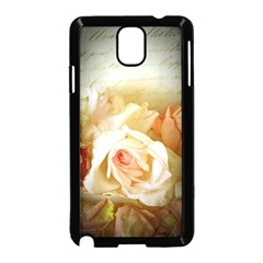 Roses Vintage Playful Romantic Samsung Galaxy Note 3 Neo Hardshell Case (black)