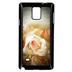 Roses Vintage Playful Romantic Samsung Galaxy Note 4 Case (black) by Nexatart