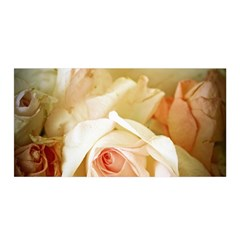 Roses Vintage Playful Romantic Satin Wrap