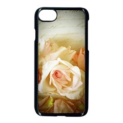 Roses Vintage Playful Romantic Apple Iphone 7 Seamless Case (black) by Nexatart