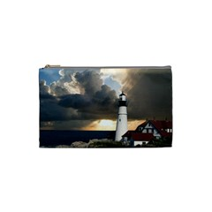 Lighthouse Beacon Light House Cosmetic Bag (small)  by Nexatart