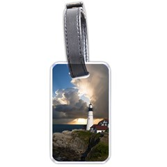 Lighthouse Beacon Light House Luggage Tags (one Side)  by Nexatart