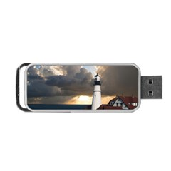 Lighthouse Beacon Light House Portable Usb Flash (two Sides) by Nexatart