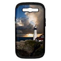 Lighthouse Beacon Light House Samsung Galaxy S Iii Hardshell Case (pc+silicone) by Nexatart