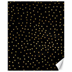Grunge Pattern Black Triangles Canvas 11  X 14