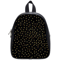 Grunge Pattern Black Triangles School Bag (small)