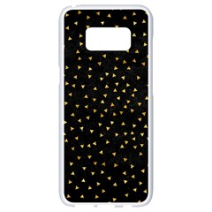 Grunge Pattern Black Triangles Samsung Galaxy S8 White Seamless Case