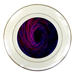 Black Hole Rainbow Blue Purple Porcelain Plates by Mariart