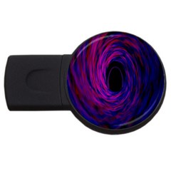 Black Hole Rainbow Blue Purple Usb Flash Drive Round (4 Gb) by Mariart
