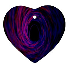 Black Hole Rainbow Blue Purple Heart Ornament (two Sides) by Mariart