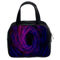 Black Hole Rainbow Blue Purple Classic Handbags (2 Sides) by Mariart