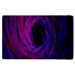 Black Hole Rainbow Blue Purple Apple Ipad 3/4 Flip Case by Mariart