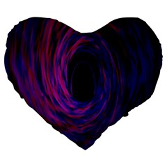 Black Hole Rainbow Blue Purple Large 19  Premium Flano Heart Shape Cushions