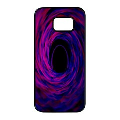 Black Hole Rainbow Blue Purple Samsung Galaxy S7 Edge Black Seamless Case by Mariart