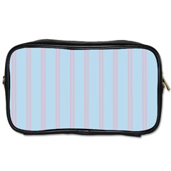 Bleu Pink Line Vertical Toiletries Bags by Mariart