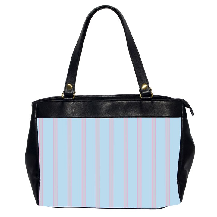 Bleu Pink Line Vertical Office Handbags (2 Sides)