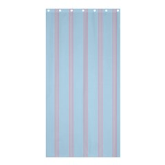 Bleu Pink Line Vertical Shower Curtain 36  X 72  (stall)  by Mariart