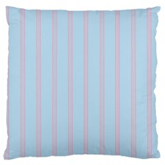 Bleu Pink Line Vertical Large Cushion Case (two Sides) by Mariart