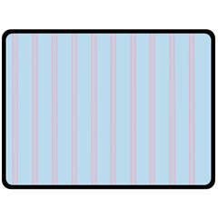 Bleu Pink Line Vertical Double Sided Fleece Blanket (large)  by Mariart