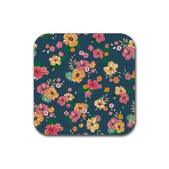 Aloha Hawaii Flower Floral Sexy Rubber Coaster (square)  by Mariart